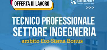 offerta di lavoro ingegneria eco-sisma bonus