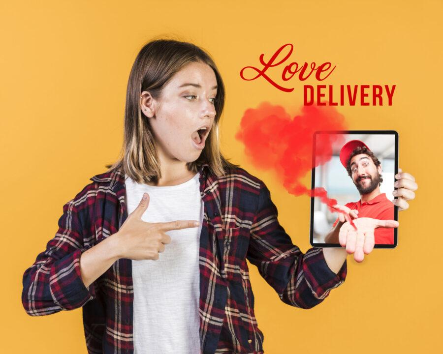 Love delivery - fotomontaggio di Manuela Stefanelli